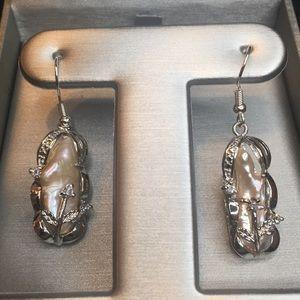 Jewelry - Natural Biwa Pearl Earrings